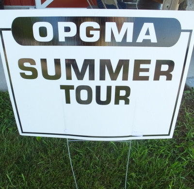 OPGMA summer tour sign
