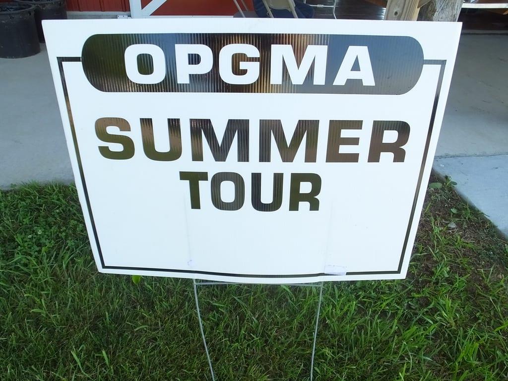 OPGMA summer tour sign