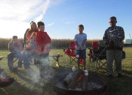 roasting marsmallows